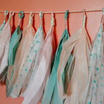 How to DIY tissue paper tassel garland