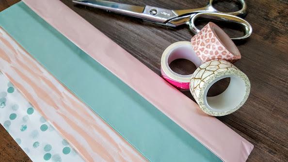 Tissue paper tassel garland supplies