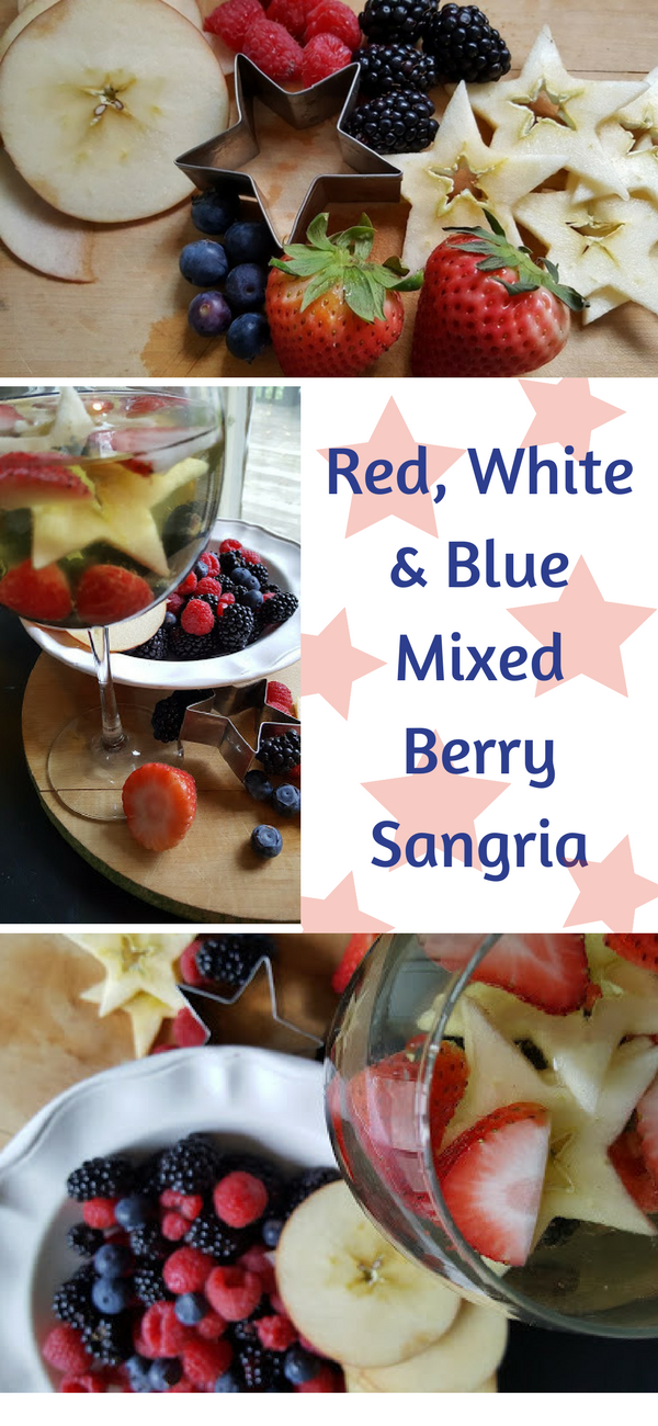 Red, white and blue mixed berry sangria recipe