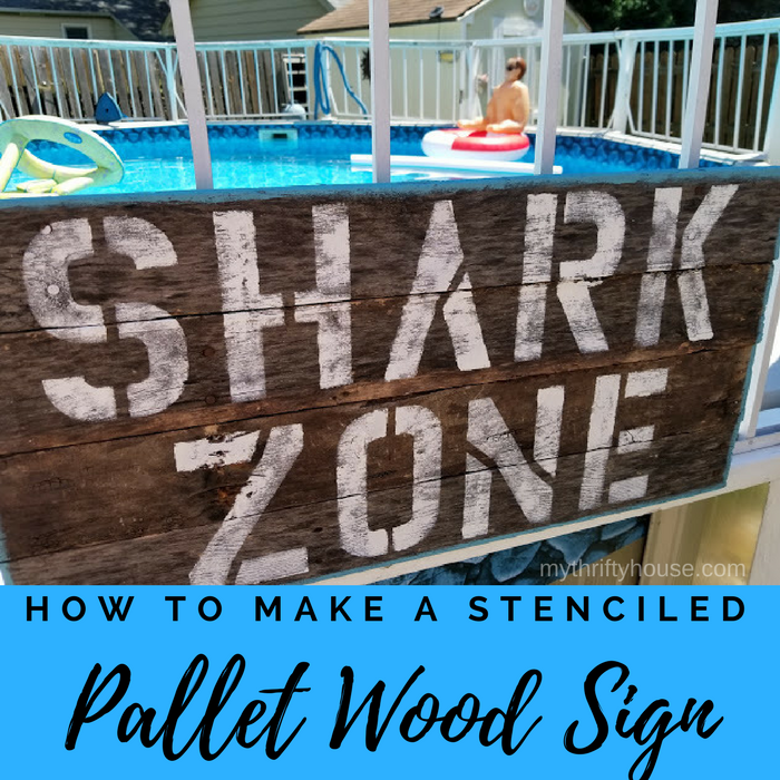 How to Make a stenciled pallet wood sign