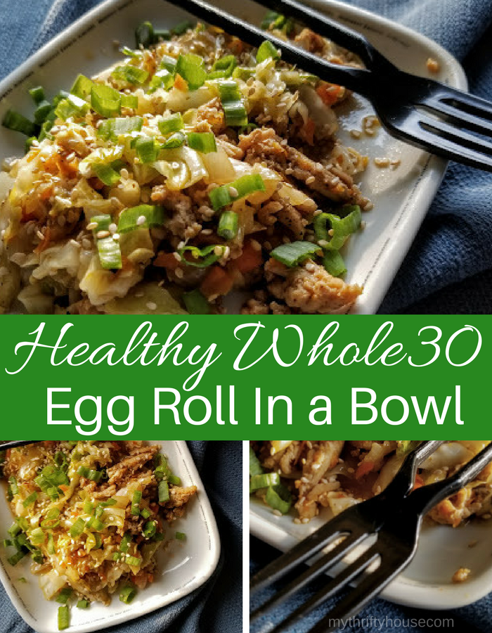 Healthy Whole30 Egg Roll in a Bowl