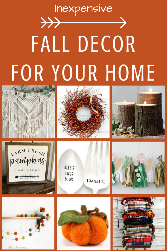 inexpensive fall decor for your home