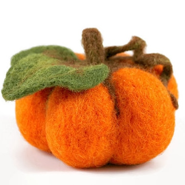 Inexpensive fall decor - Etsy - felted pumpkin