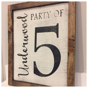 Farmhouse signs Party of 5 Etsy