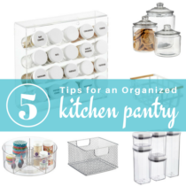 top 5 tips for an organized pantry