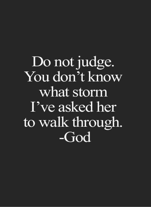 Do not judge, Season of Sadness