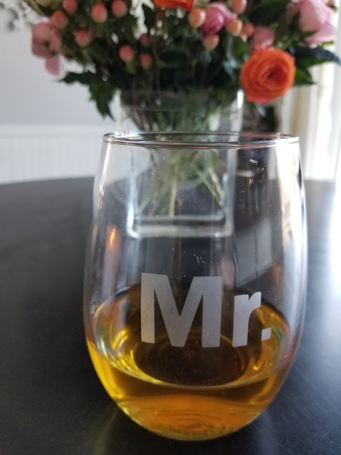 etched glass mr. wine glass