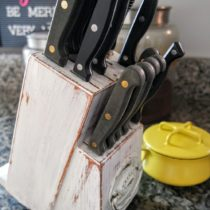 DIY Painted Knife Block Makeover with Chalk Paint