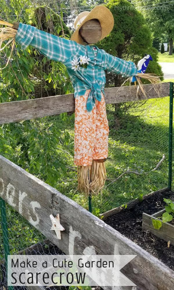 DIY Cute Garden Scarecrow