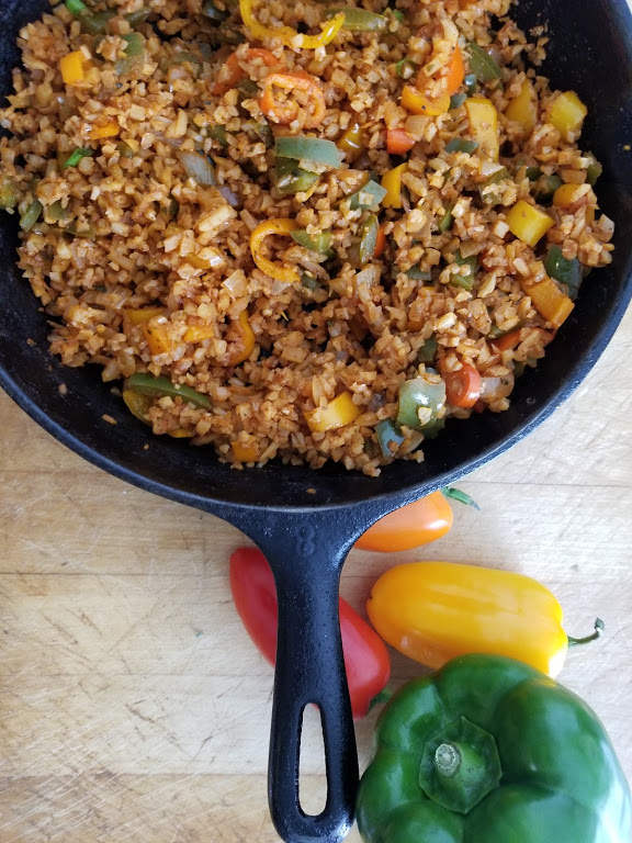 clean eating Whole30 cauliflower spanish rice