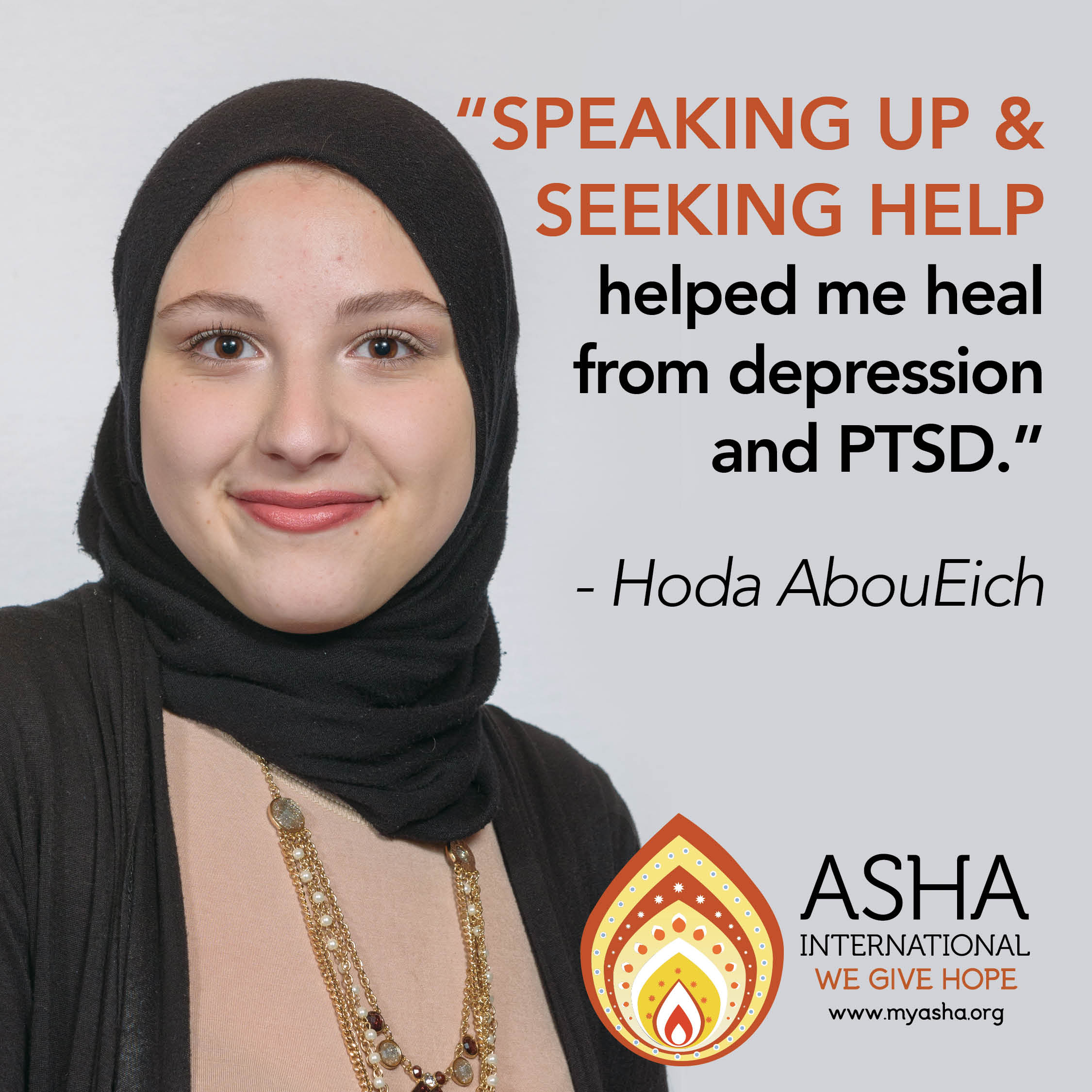 Speaking up & seeking help helped me heal from PTSD and depression.