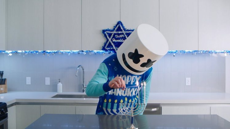 Hanukkah cooking with DJ Marshmello