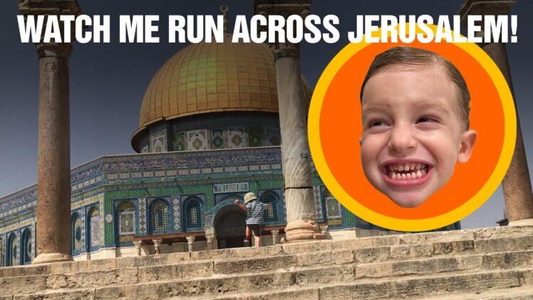 Toddler Running Jerusalem