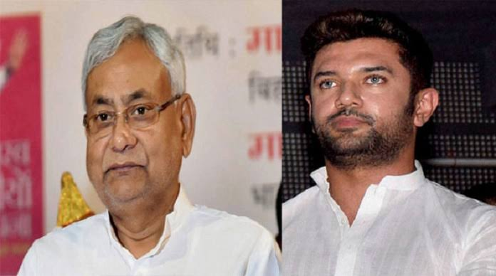 chirag paswan and nitish kumar