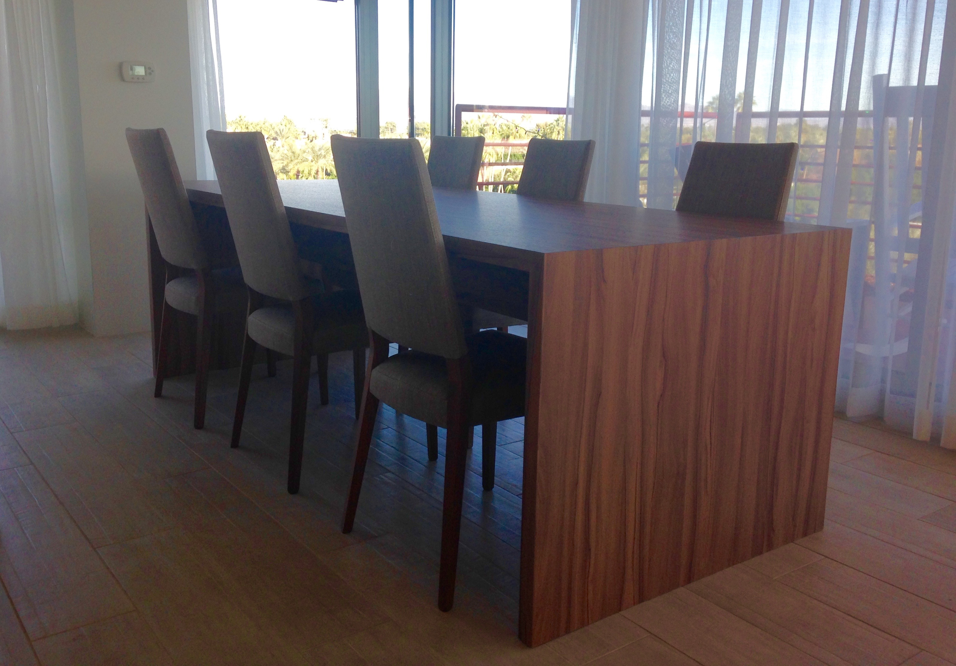 conference table, Roseo Design Center, wood conference table, contemporary conference table, custom conference table, office cabinetry,