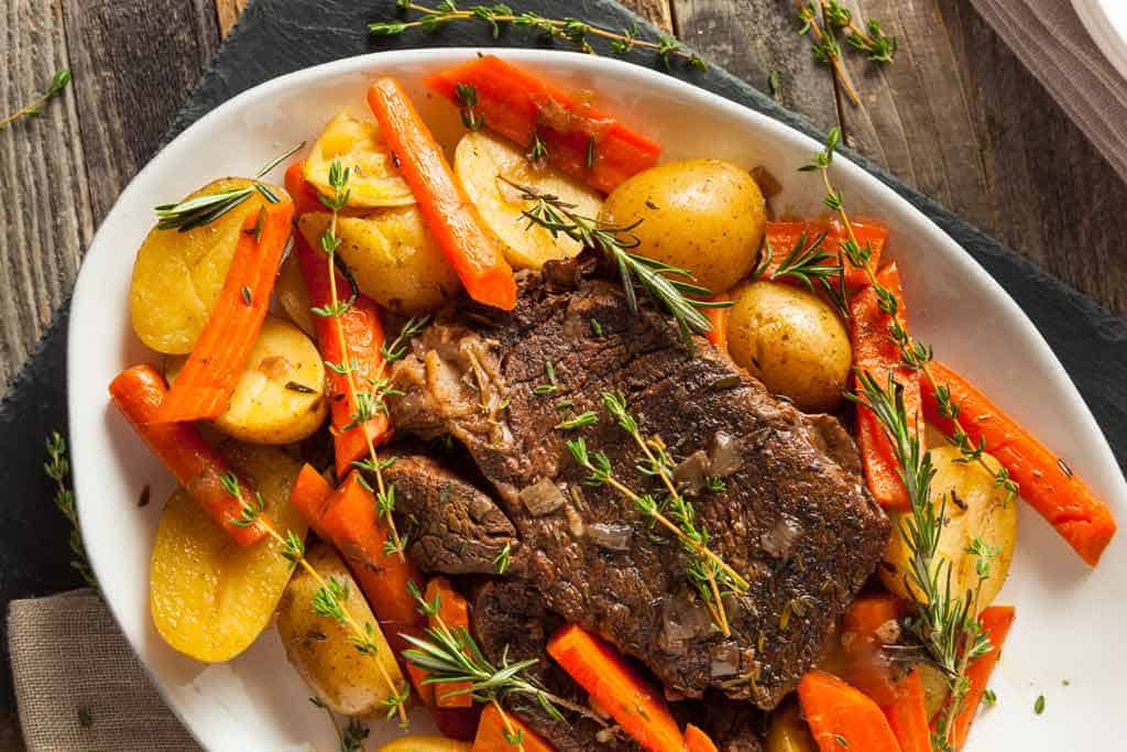 Delicious highland grass fed roast cooked in the slow cooker