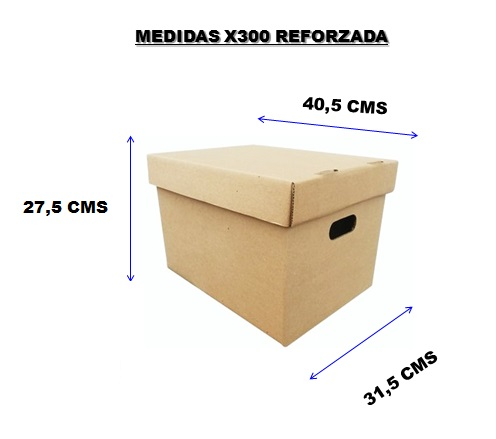 caja x300 medidas