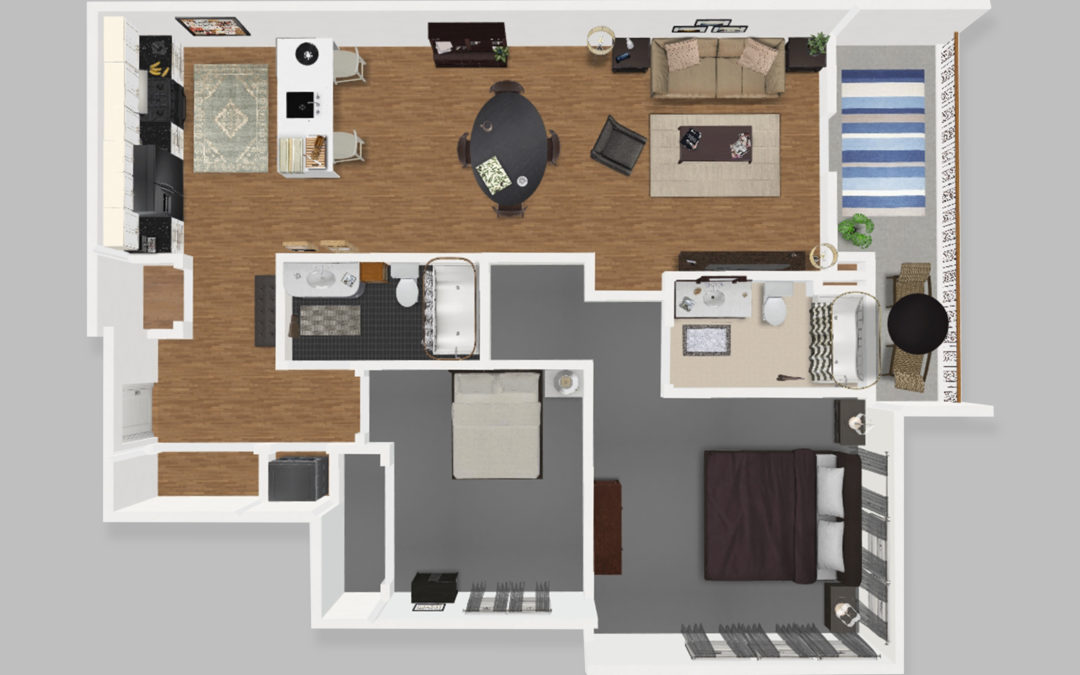 Unit C – Two Bedroom