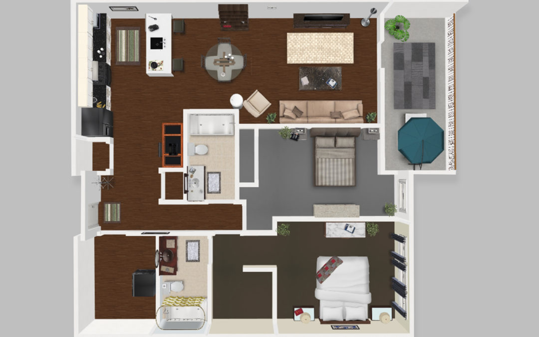 Unit D – Two Bedroom