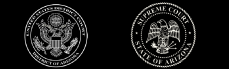 Supreme court seal and district court seal