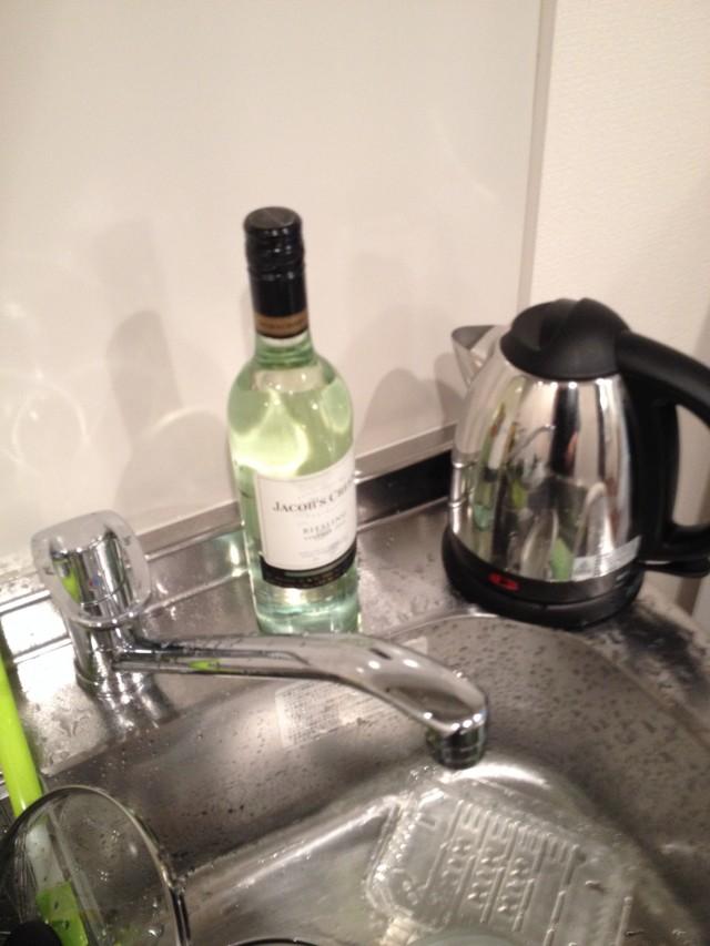 > 白酒發現!而且是在起鍋了之後!!