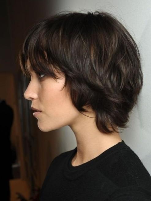 Dark-Brown-Hairstyles-for-Short-Hair-Cute-Easy-Haircut