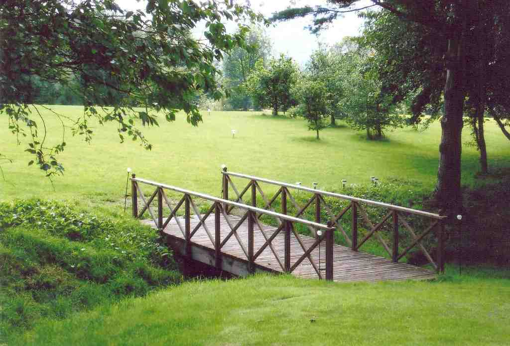 Flat Stained Garden Bridge