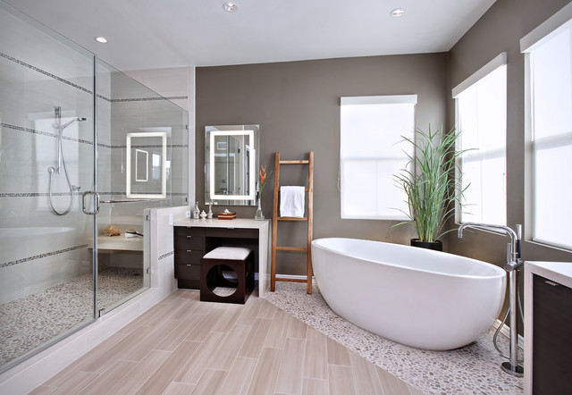 Modern bathroom decorating