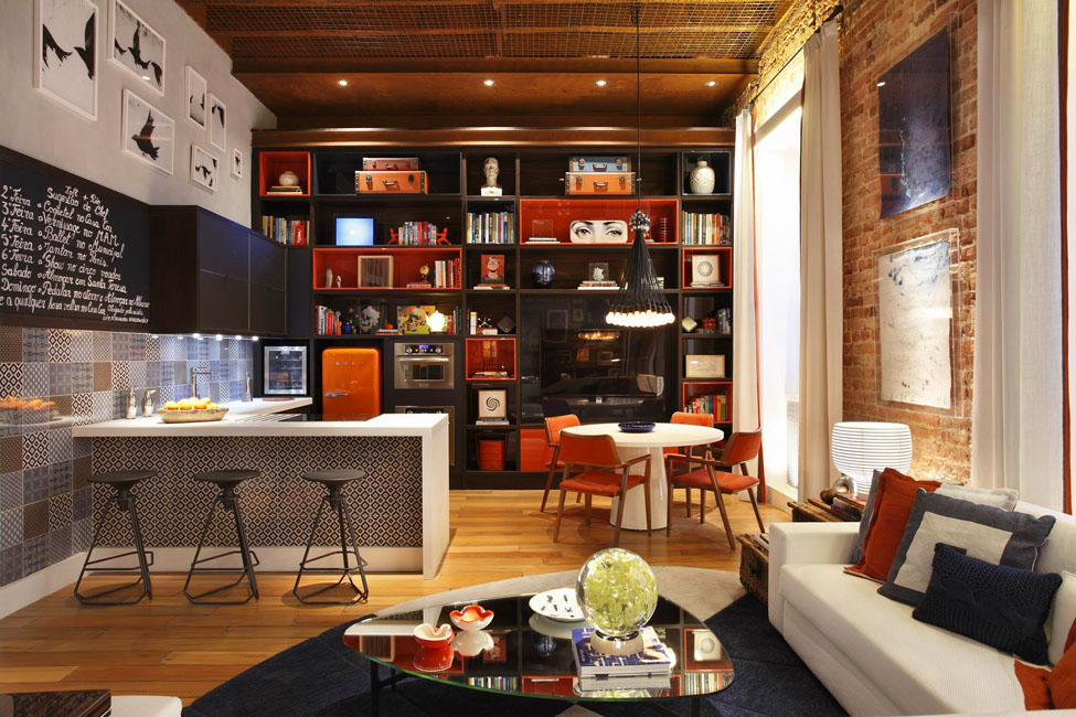 Open Plan Loft With Whimsical Decor