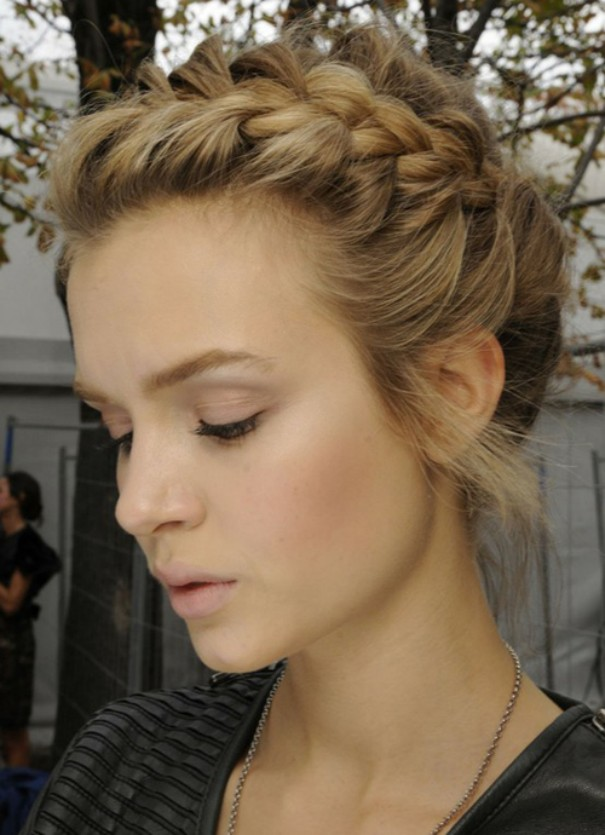 Top Braid Hairstyle for winter 2015