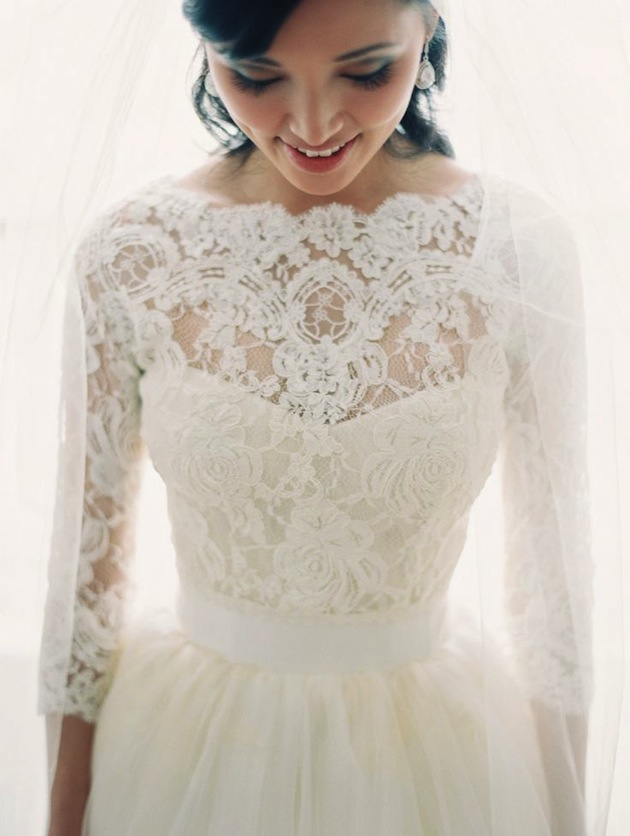 lace-sleeve-wedding-dress-Bridal-Musings