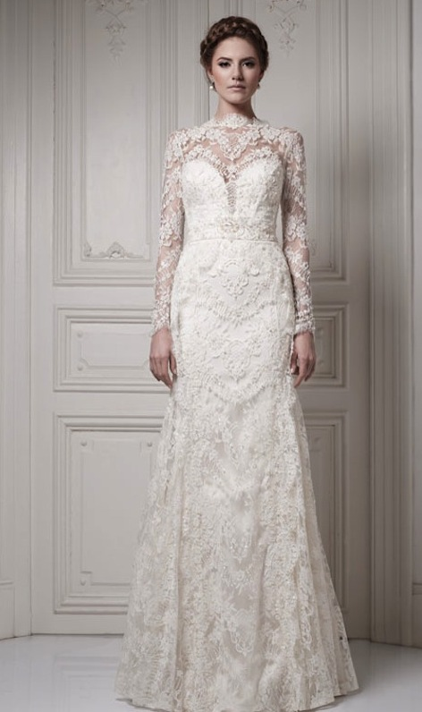 long-sleeve-lace-wedding-dress-Bridal