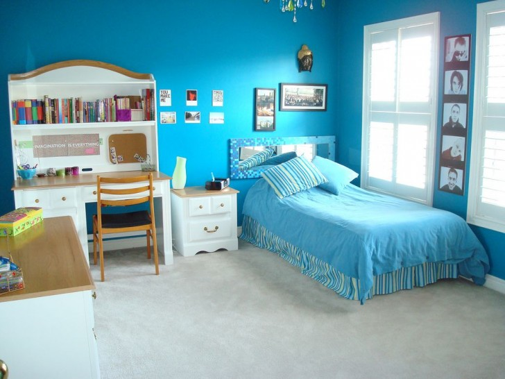 teenage-girl-bedroom-ideas-with-blue-wall-color-then-study-desk-and-chairs