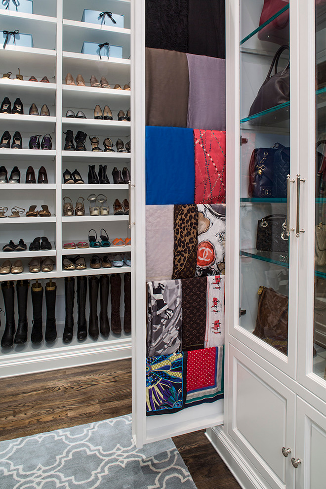 Bright-Shoe-Cubbies-technique-Los-Angeles-Traditional-Closet-Image-Ideas-with-accessory-closet-boot-storage-boutique-closet-Closet-Design-display-dressing-room-glass-cabinets-glass