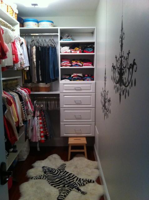 Daughter's Walk-in Closet eclectic-closet