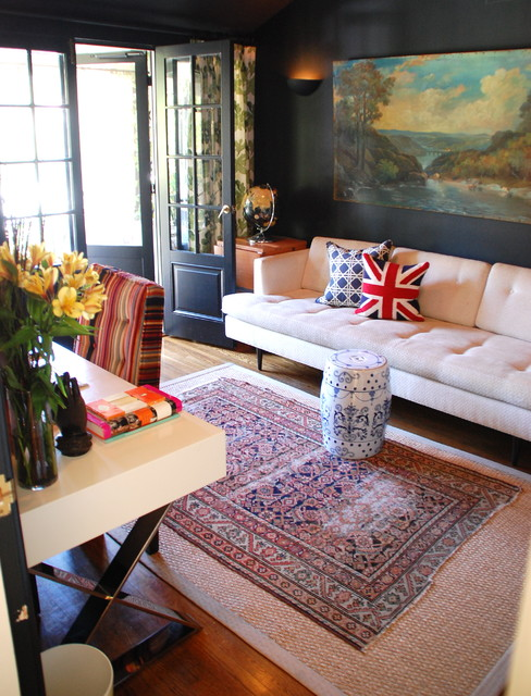 Eclectic Home Office by Lisa Borgnes