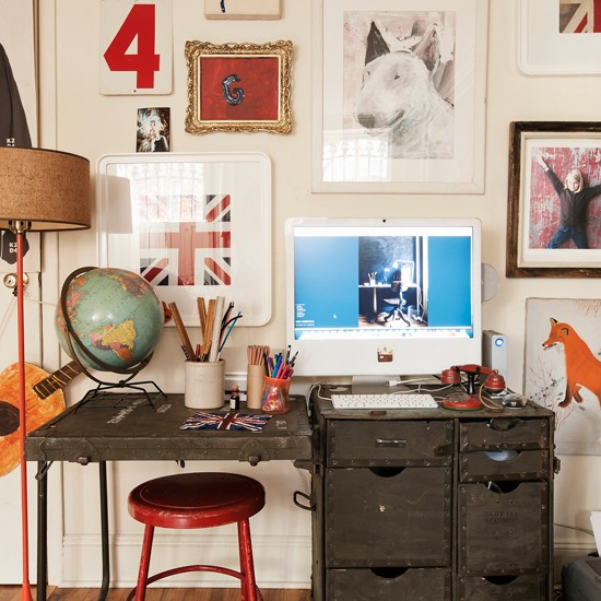 Fun and eclectic home office