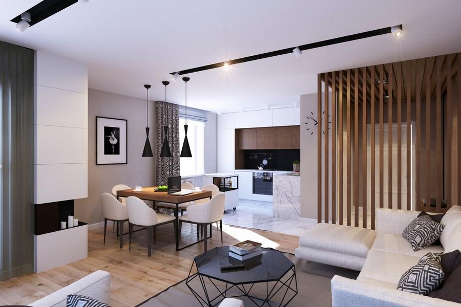 GEOMETRIUM-Stylish-Open-Layout-Apartment-Designs-2015-Vertical-Wooden-Slats-Vertical-Elements-2016-Interior-Decoration-Ideas-1