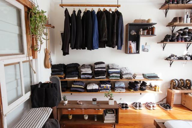 Industrial eclectic-closet