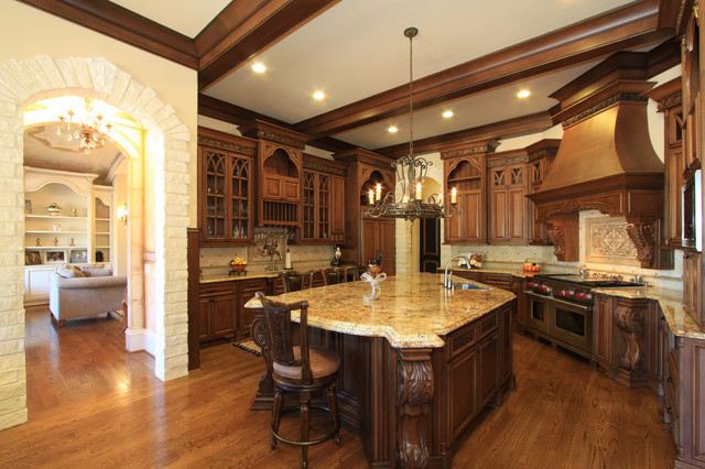 Luxury Wooden Brown Kitchen Design