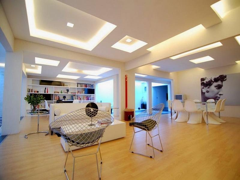 Modern-Basement-Decorating-Ideas-Ceiling