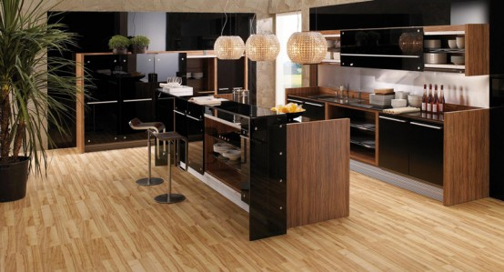 Modern-Kitchen-In-Wooden-Finish