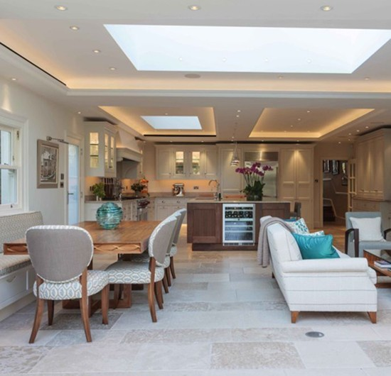 Modern Kitchen Living Room Open Plan