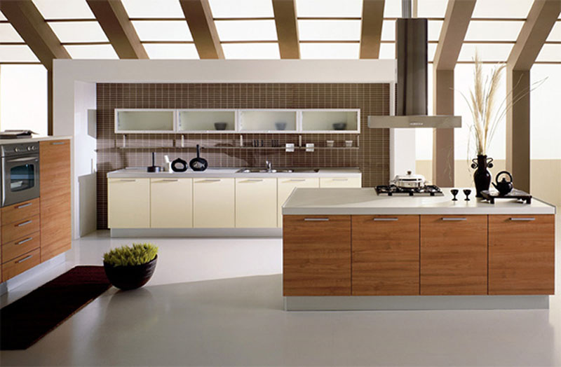 Modern-White-and-Wooden-Open-Kitchen-Design