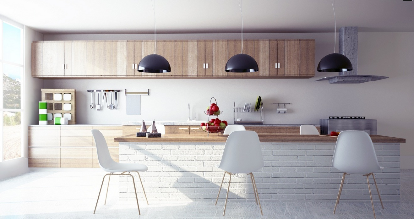 Modern-wooden-kitchen