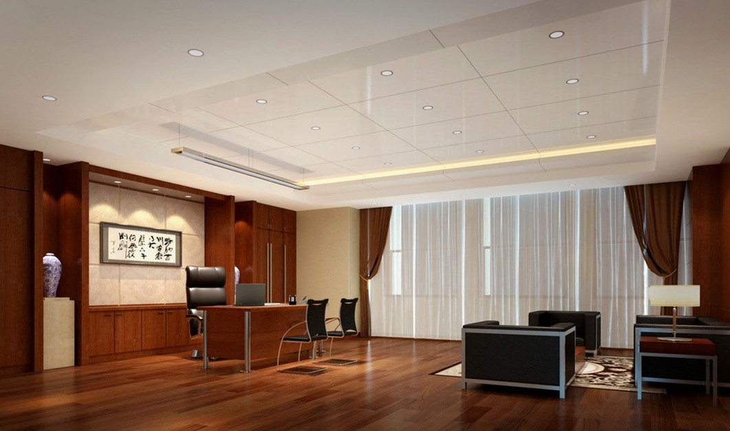 Office-Ceiling-Design-Ideas-and-recessed-ceiling-decoration-for-asian-home-office-interior-design