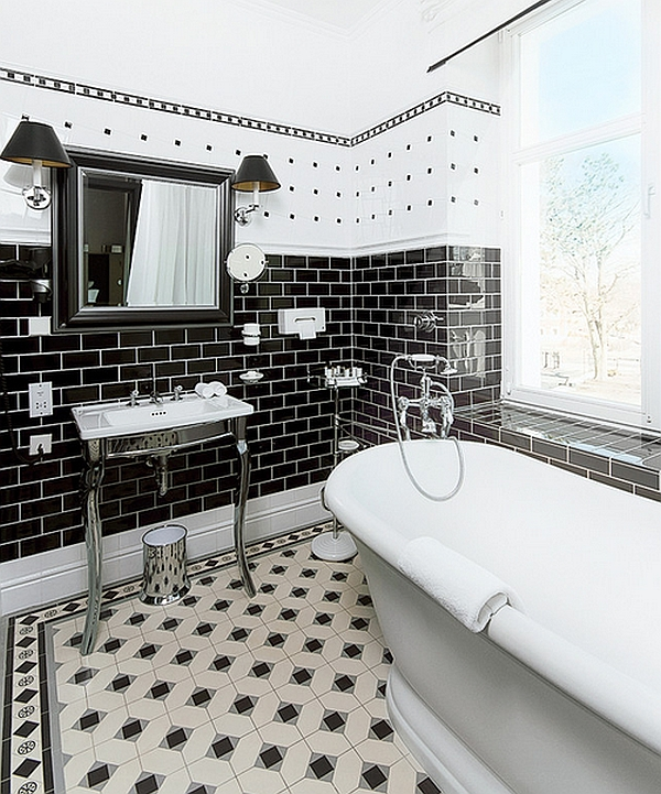 Smart-combination-of-black-and-white-in-the-bath