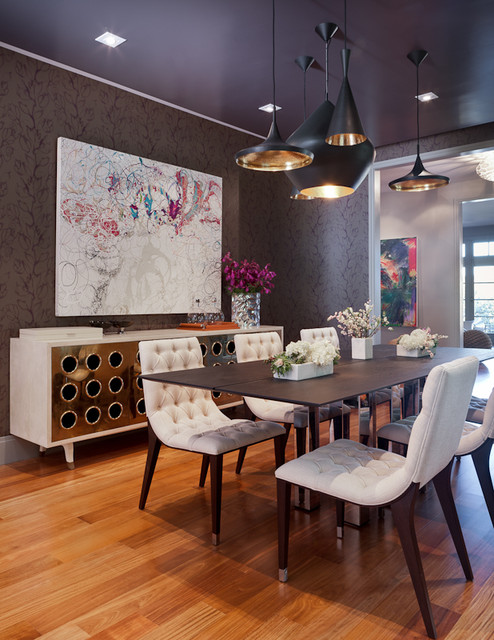 Transitional Eclectic Dining Room