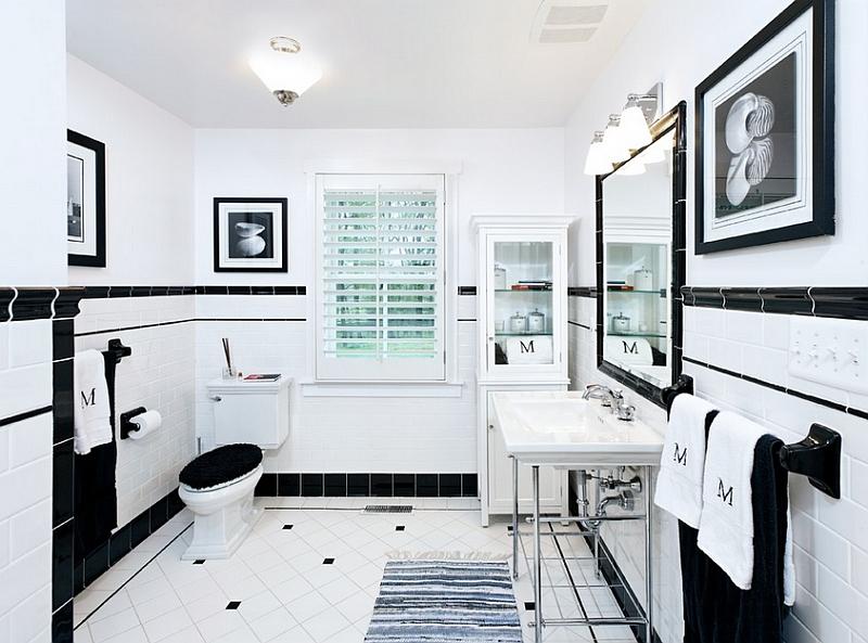 Trendy-black-and-white-bathroom