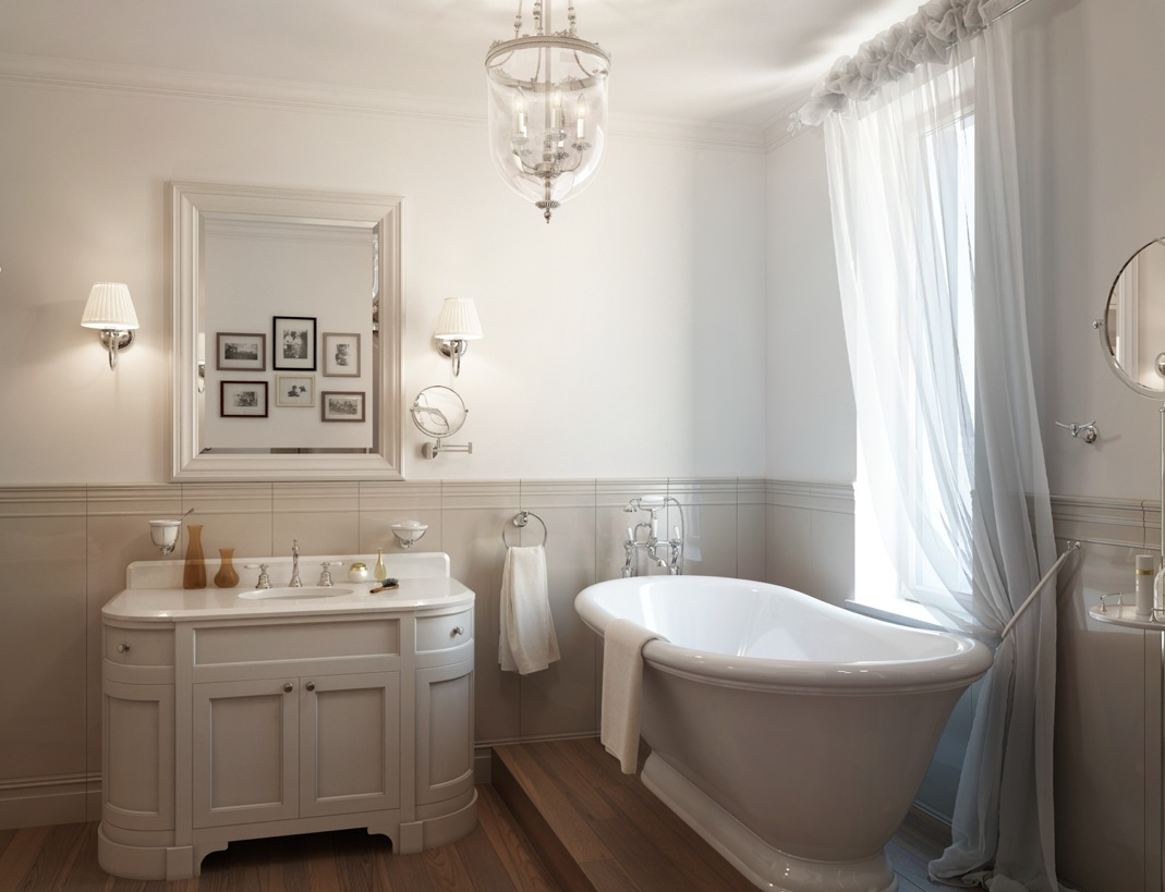 White-traditional-bathroom-roll-top-bath